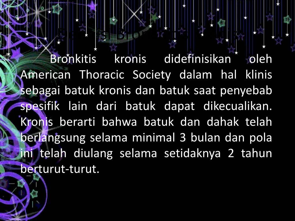 definisi bronchitis kronis l.