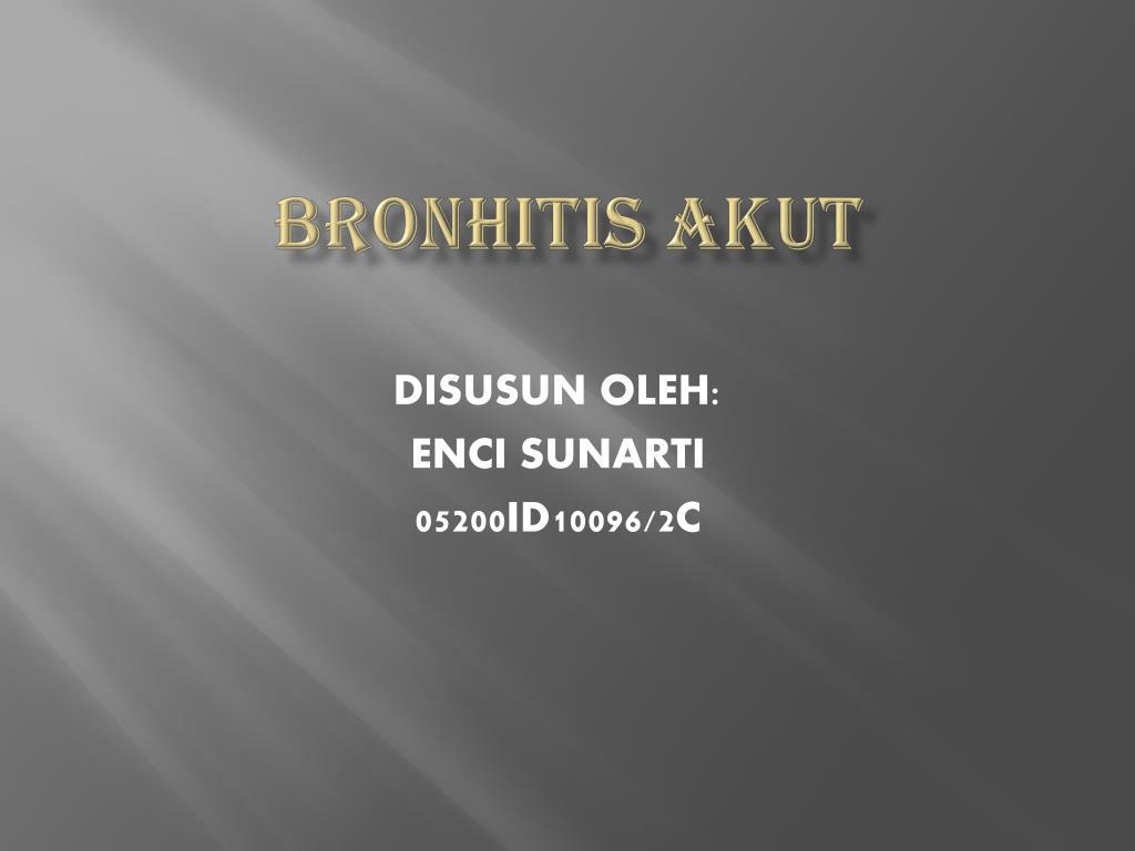 bronhitis akut l.