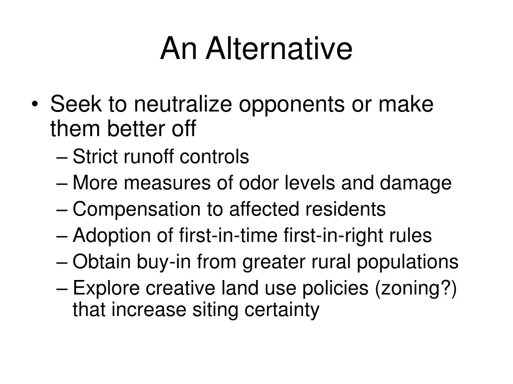 An Alternative