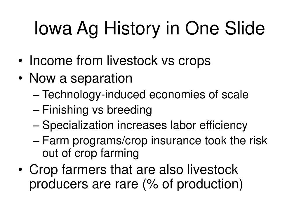 Iowa Ag History in One Slide