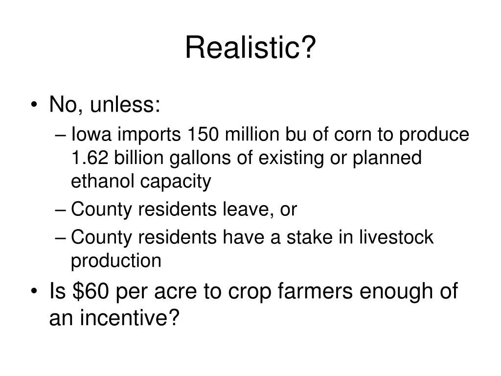 Realistic?