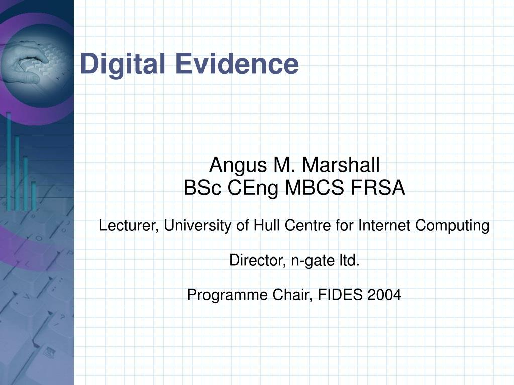 digital evidence l.
