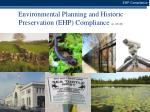 environmental planning and historic preservation ehp compliance p 43 45