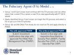 the fiduciary agent fa model p 15