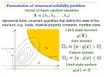 formulation of structural reliability problem