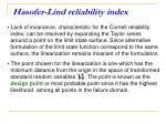 hasofer lind reliability index