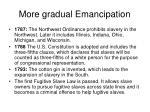 more gradual emancipation