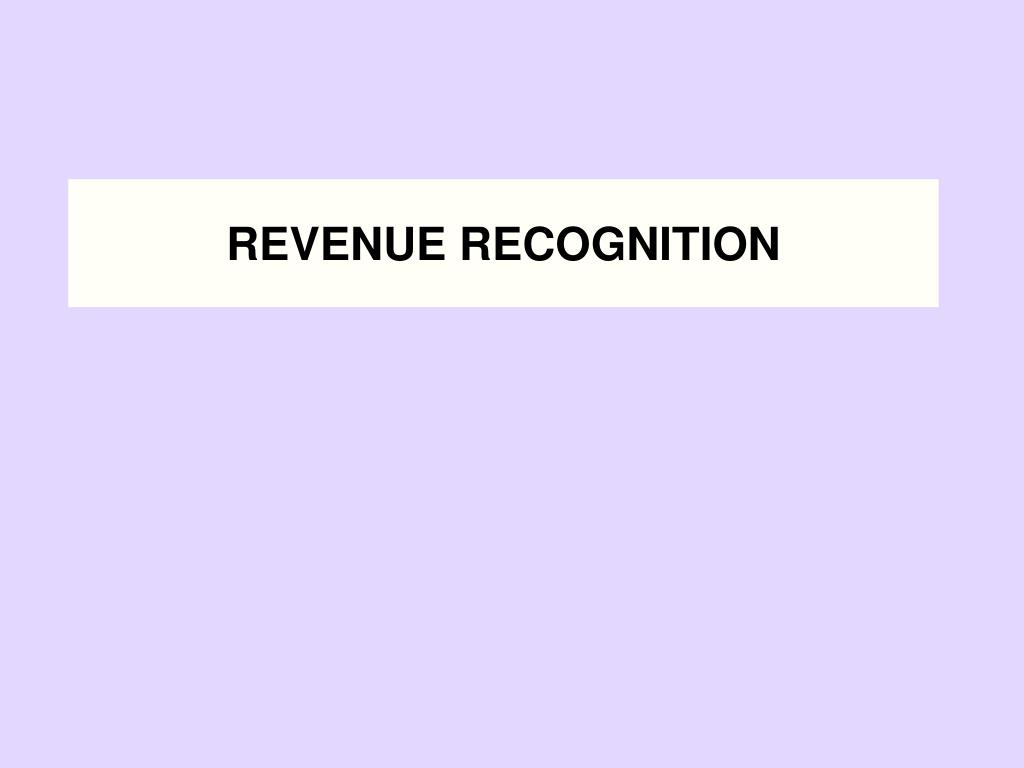 revenue recognition l.