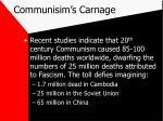 communisim s carnage