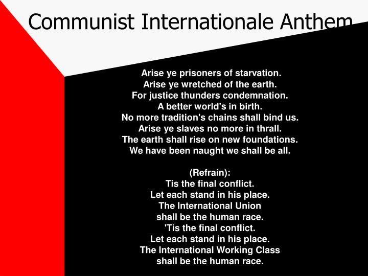 Communist Internationale Anthem