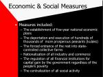 economic social measures