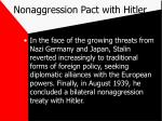 nonaggression pact with hitler