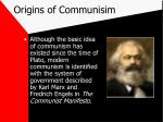 origins of communisim