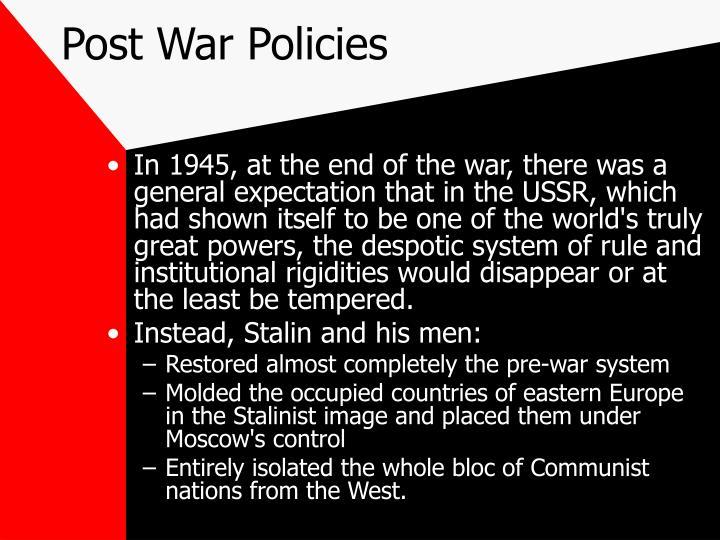 Post War Policies