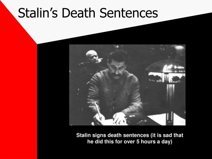 Stalin's Death Sentences