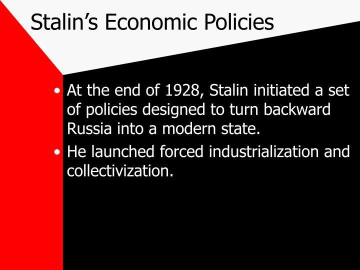 Stalin's Economic Policies