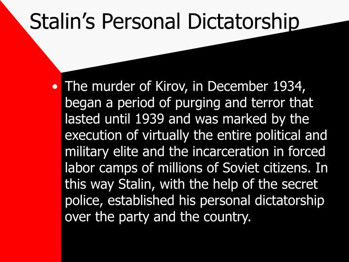 Stalin's Personal Dictatorship