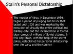 stalin s personal dictatorship