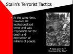 stalin s terrorist tactics