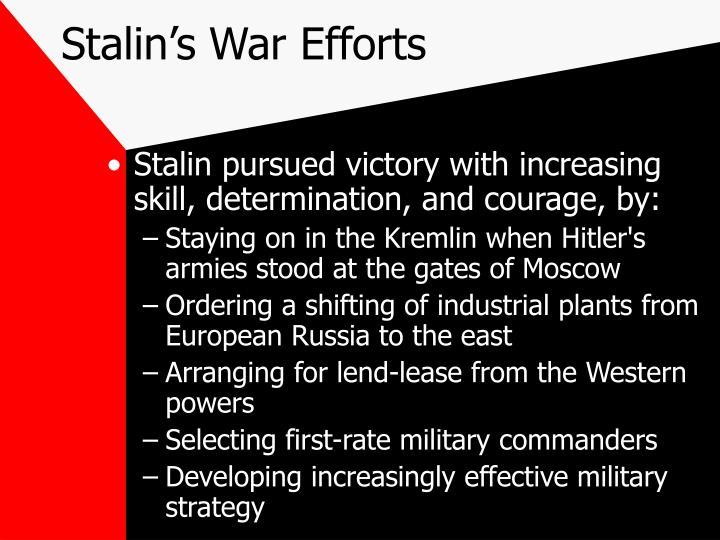 Stalin's War Efforts