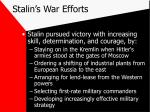 stalin s war efforts