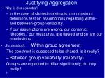 justifying aggregation