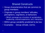 shared constructs