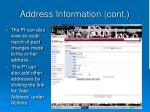 address information cont35