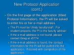 new protocol application cont13