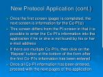 new protocol application cont15