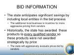 bid information4