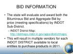 bid information5