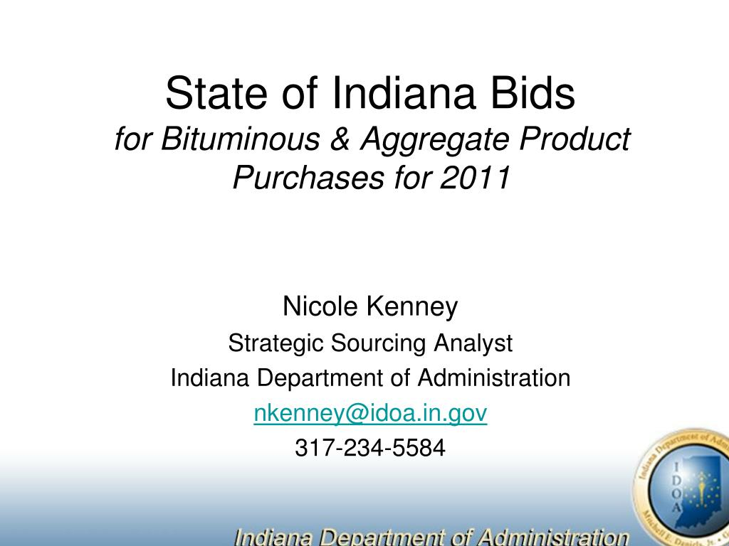 state of indiana bids for bituminous aggregate product purchases for 2011