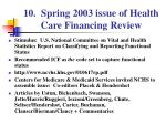 10 spring 2003 issue of health care financing review