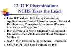 icf dissemination nchs takes the lead