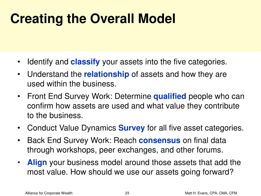 Creating the Overall Model