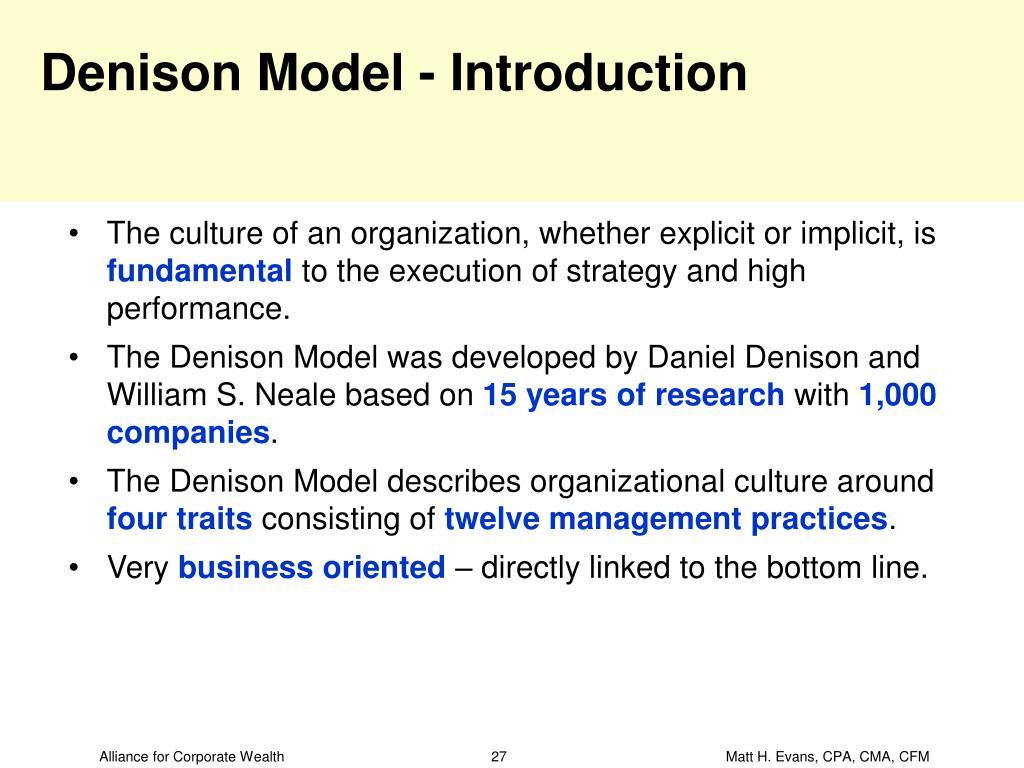 Denison Model - Introduction