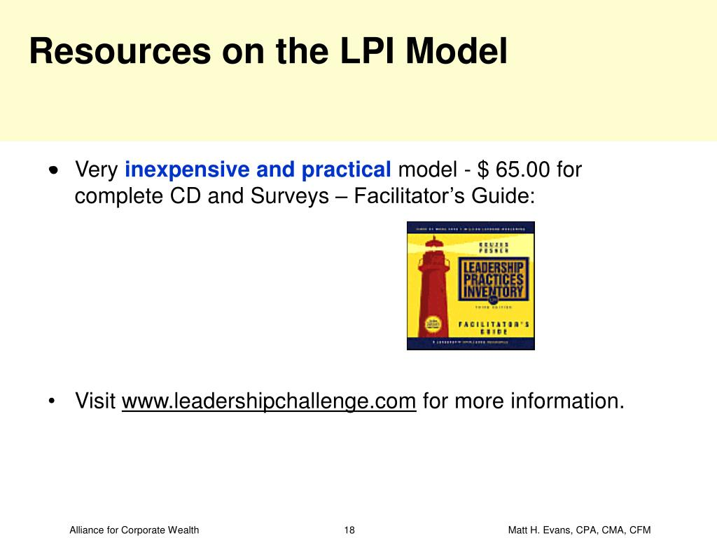 Resources on the LPI Model