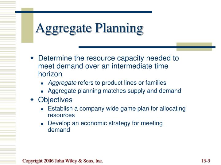 Aggregate planning3