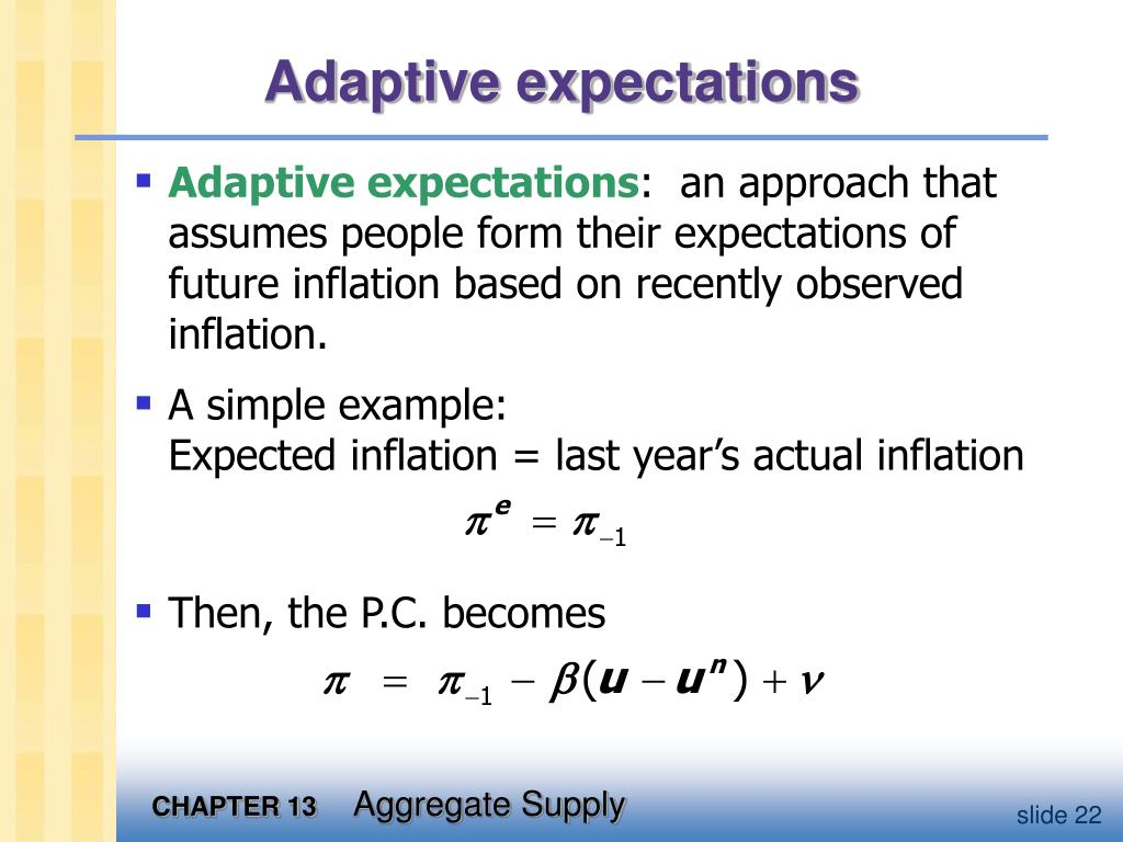 Adaptive expectations