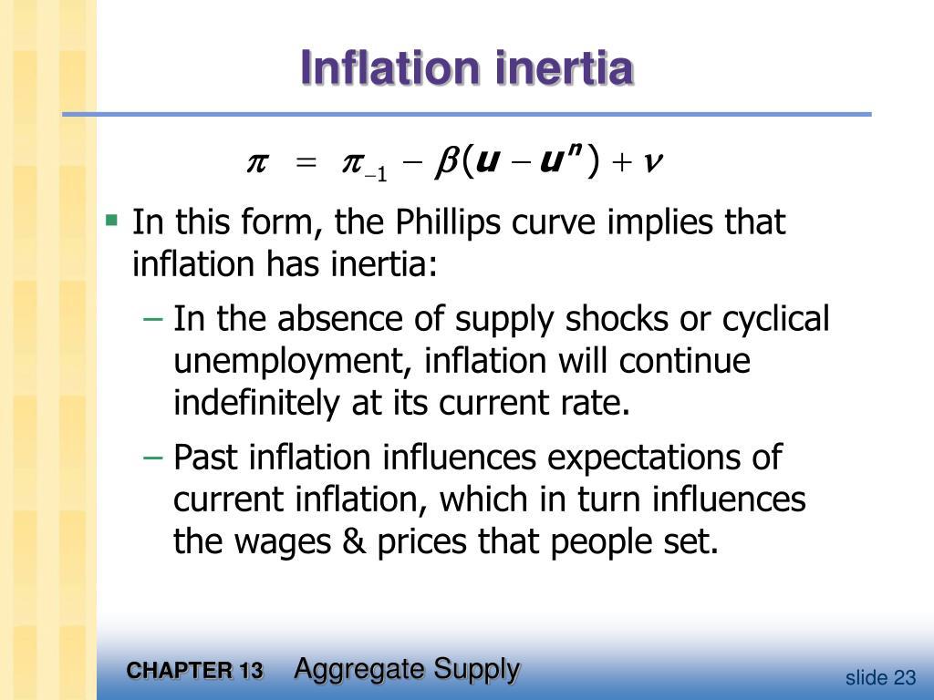 Inflation inertia