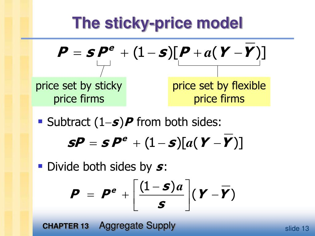 price set by flexible price firms