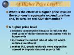 a higher price level