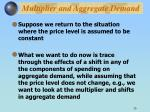 multiplier and aggregate demand