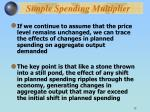 simple spending multiplier
