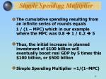 simple spending multiplier17