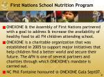 first nations school nutrition program