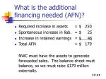what is the additional financing needed afn