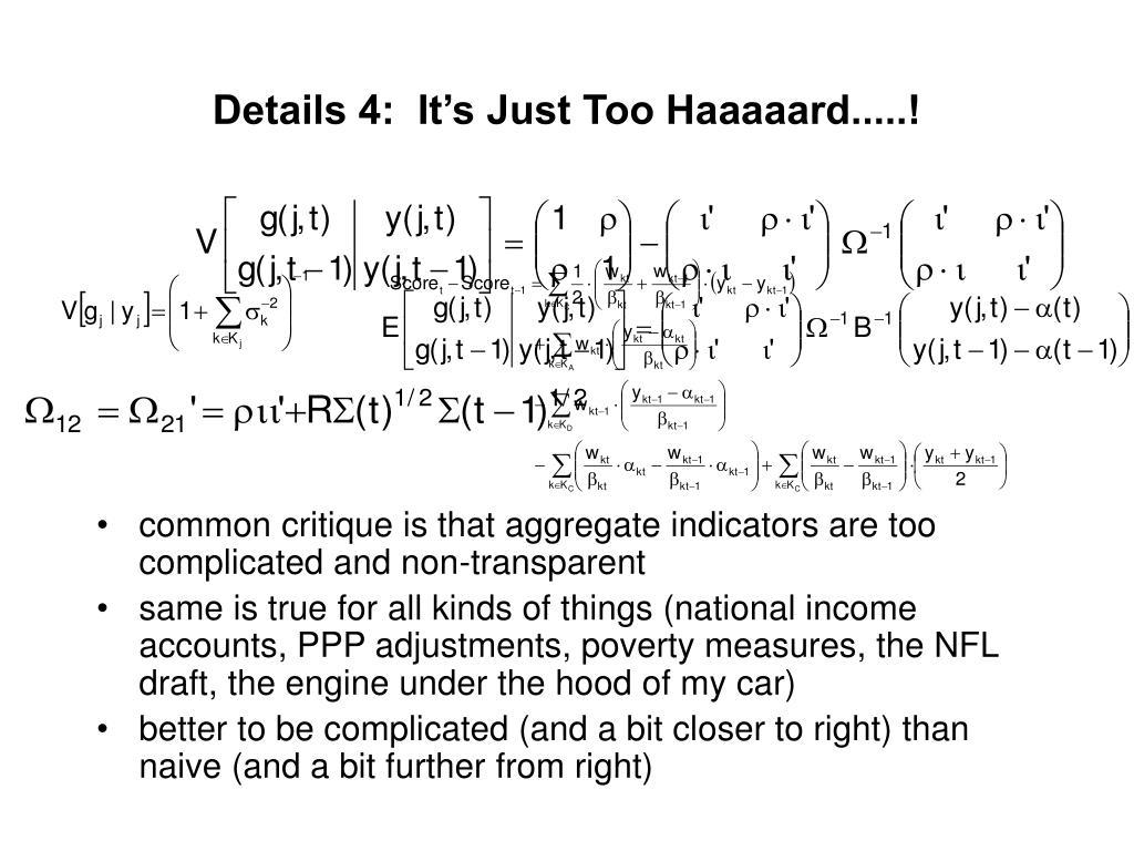 Details 4:  It's Just Too Haaaaard.....!