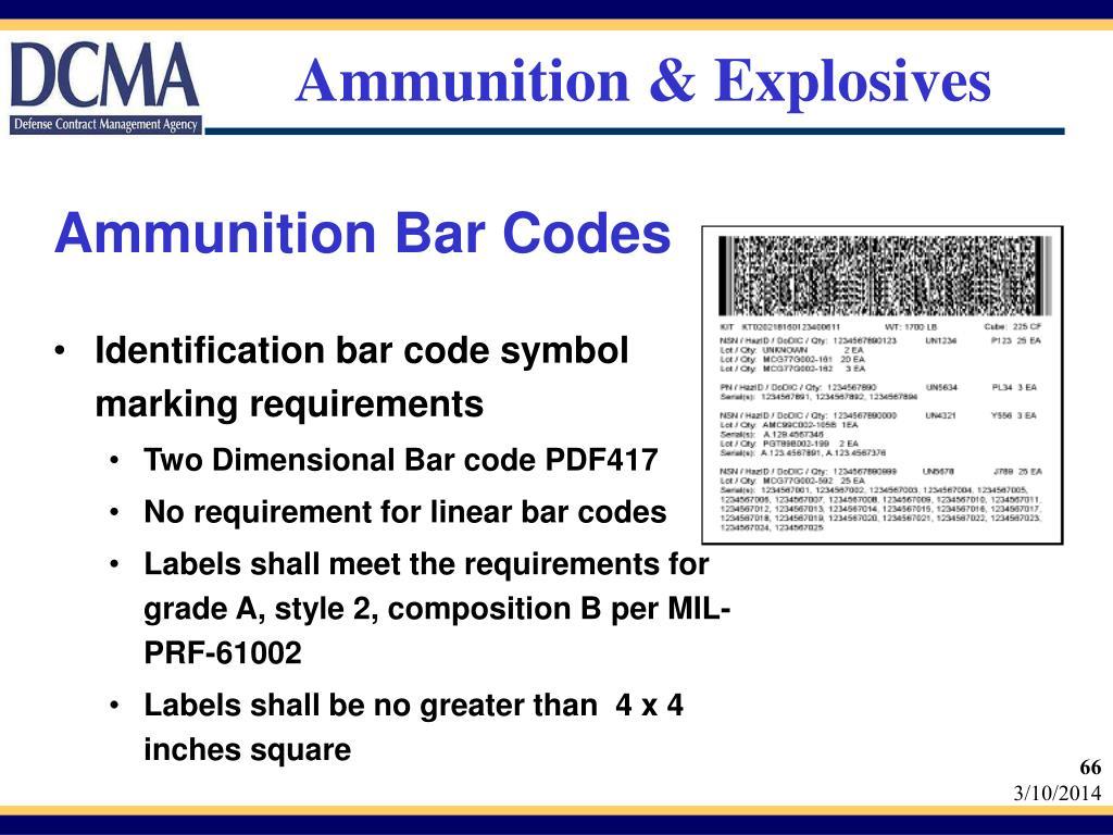 Ammunition & Explosives
